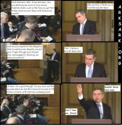 A little bit of fun with Gordon Brown and Nick Robinson.
