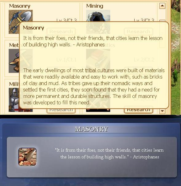 Evony steals tech descriptions from Sid Meier's Civilization.