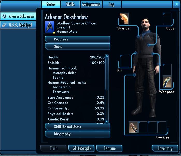Star Trek Online Paperdoll
