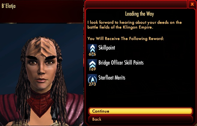 Star Trek Online Tutorial 33 Klingon Offers Starfleet Merits
