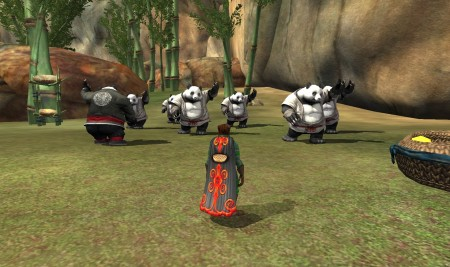 Everquest 2 The Hua'Mein Practise Tai Chi Within Their Village 450x267