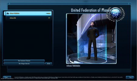 Star Trek Online New Character Select Screen 450x265