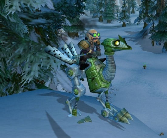 World Of Warcraft Green Mechanostrider Mount 550x454