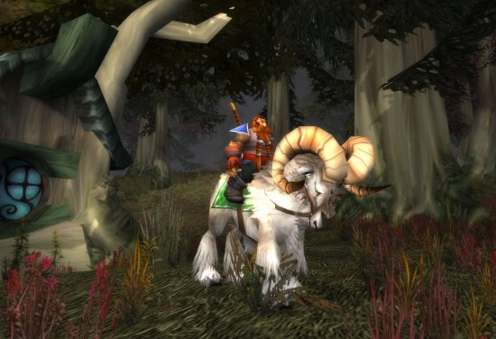 World Of Warcraft Grey Ram Mount 550x376