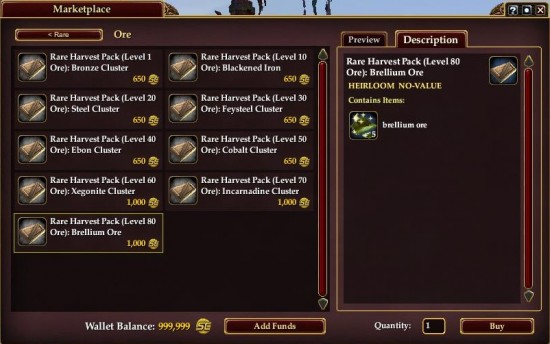 EQ2X Rare Crafting Ingredients 550x344