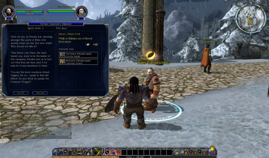LOTRO New Dwarf Spawnpoint And Quest Window 550x324