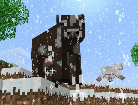 Minecraft Cow Cube 550x419
