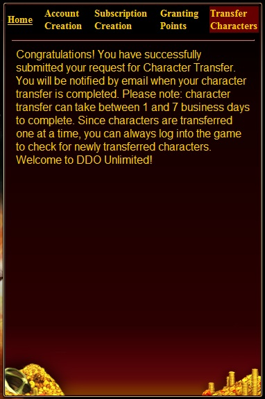 DDO European Transfer Success