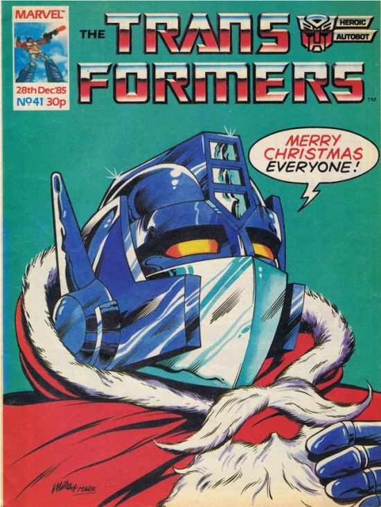 Optimus Prime As Father Christmas UK Transformers Cover 41 550x731
