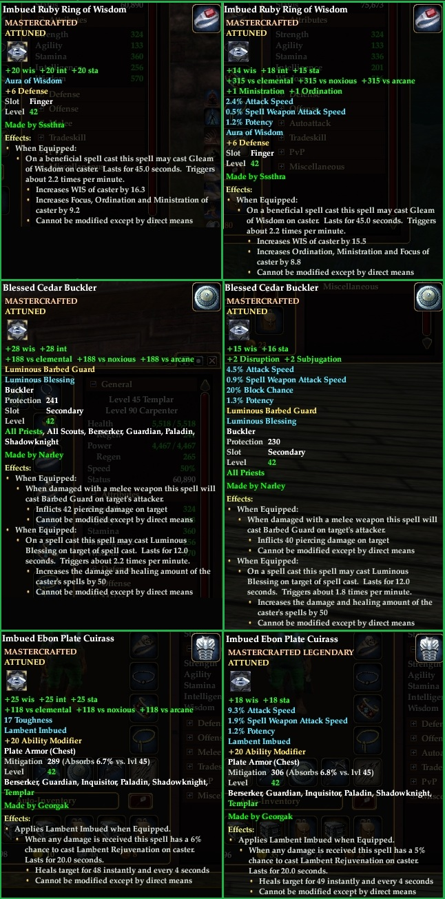 EQ2 Crafted Item Revamp
