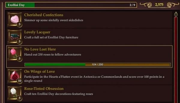 EQ2 Erollisi Day Achievements